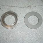 worn thrust washer rear